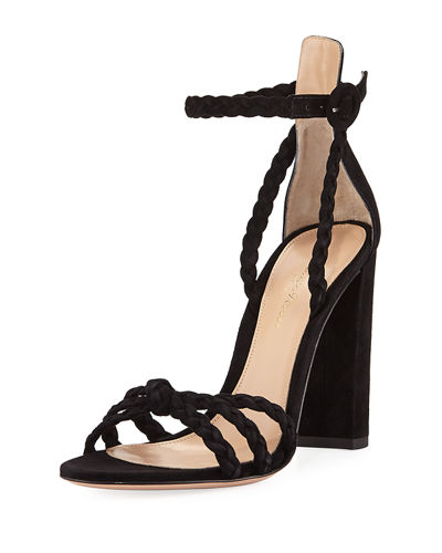 Gianvito Rossi Braided Suede 105mm Sandals