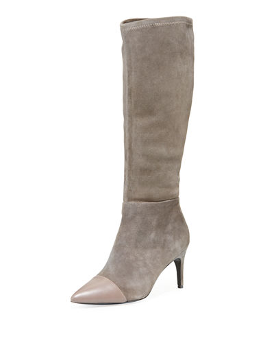 Parish Tall Stretch-Suede Boots