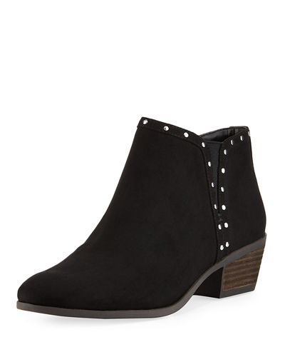 CIRCUS BY SAM EDELMAN Phyllis Studded-Trim Faux-Suede Booties