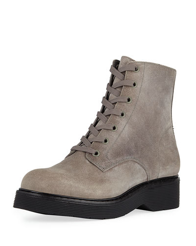 Monastir Lace-Up Suede Boots