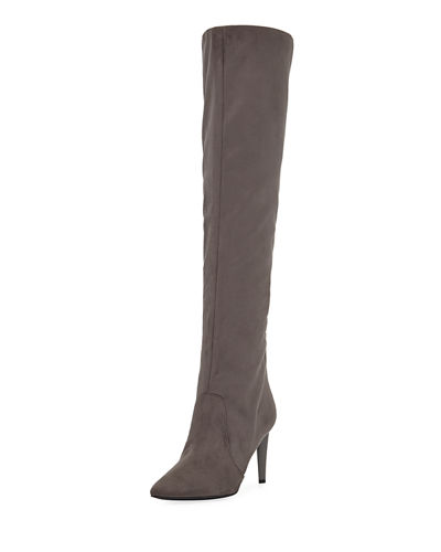 Zanna Slouchy Suede Over-the-Knee Boots