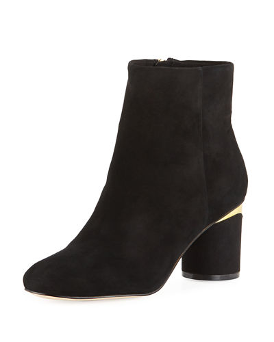 Fiona Block-Heel Booties