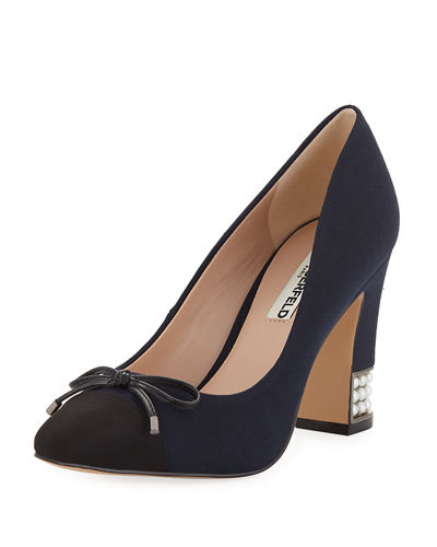 Naves2 Pump Block-Heel With Pearly Detail