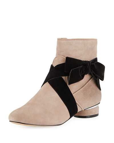 Finlee Low-Heel Booties with Bow