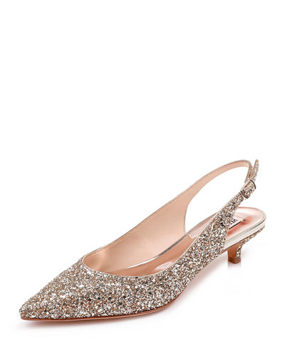 Stephanie Glitter Embellished Slingback Pumps