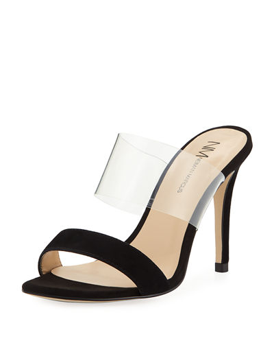 Disco Transparent-Strap Sandals
