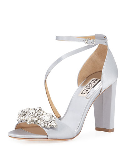 Vanda Embellished Satin Sandals