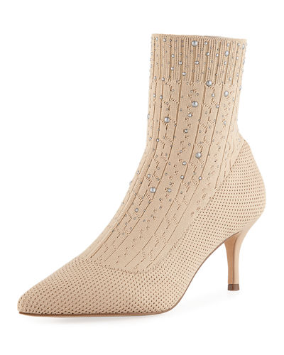Charles by Charles David Arty Embellished Knit Sock