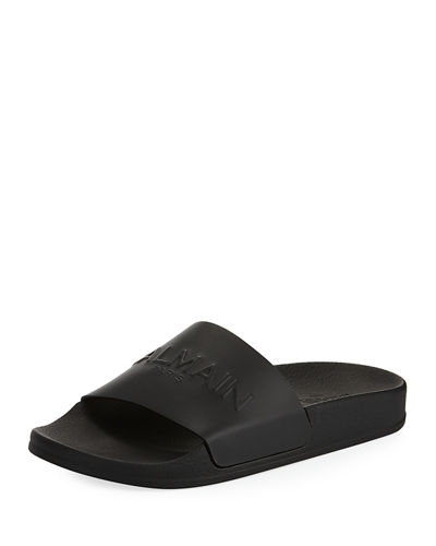Balmain Calypso One-Band Pool Slide Sandals