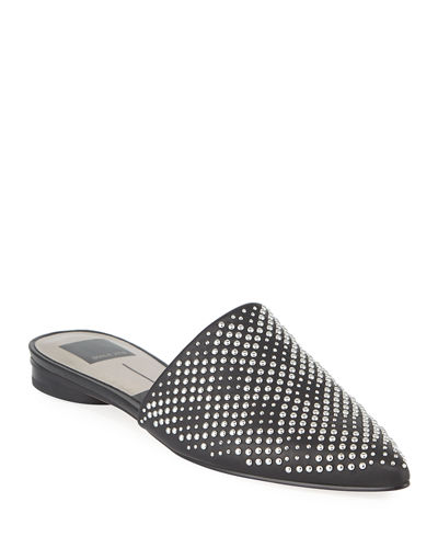Studded Pointed-Toe Slides