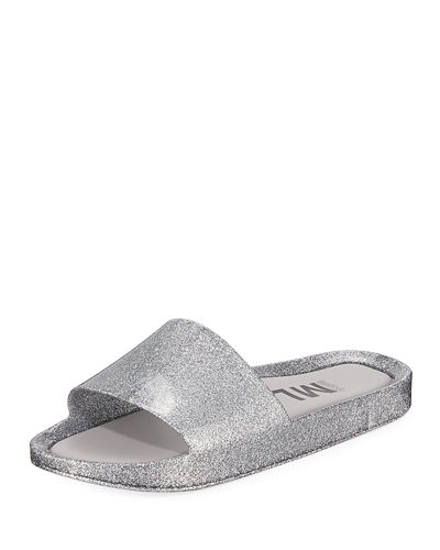 Beach Metallic Pool Slide Sandals