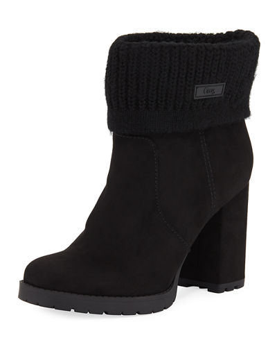 Carter Fold-over Sweater Booties
