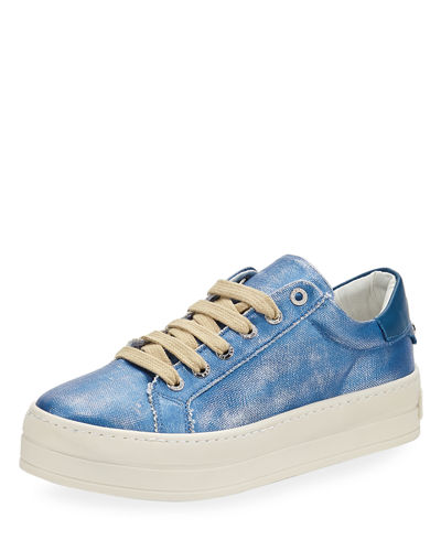 Heather Canvas Platform Sneakers