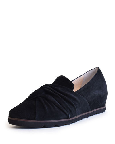 Suede Hidden-Wedge Comfort Flats