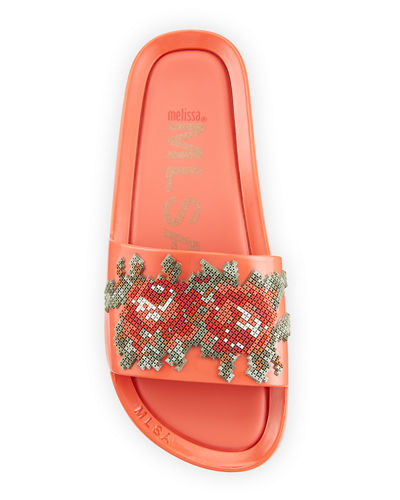 Beach Slide Flower Jelly Sandals