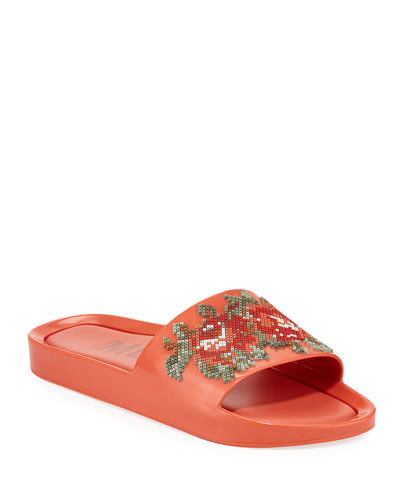 50335b840 Melissa Shoes Beach Slide Flower Jelly Sandals