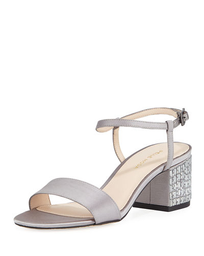Alicia Jeweled-Heel  Sandals