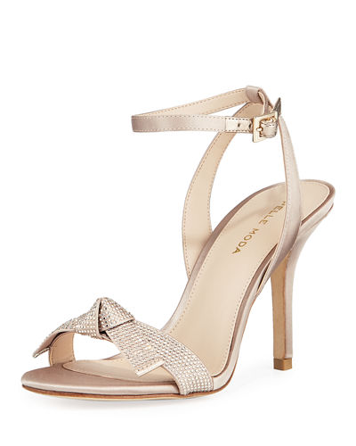 Kim Jeweled-Strap High-Heel Sandals