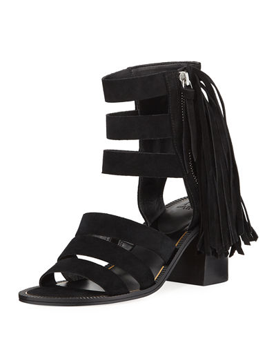 Collin Fringed Suede Sandals