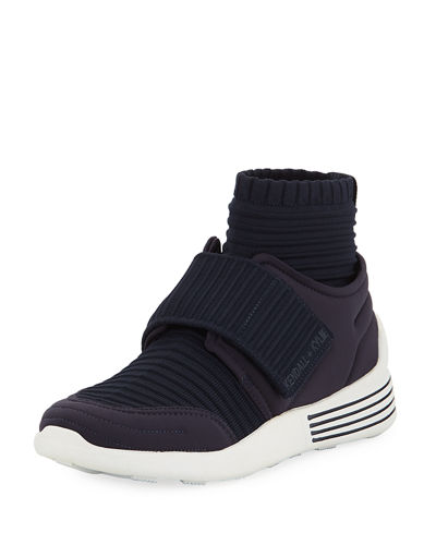 Brax Knit Wide-Strap Sneakers