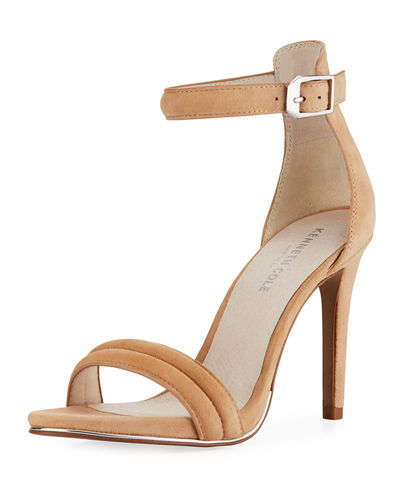 Brooke Suede Ankle-Strap Sandals