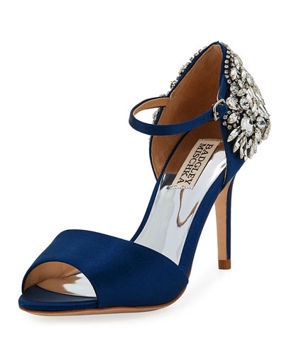 Harbor Crystal-Embellished Satin Sandals