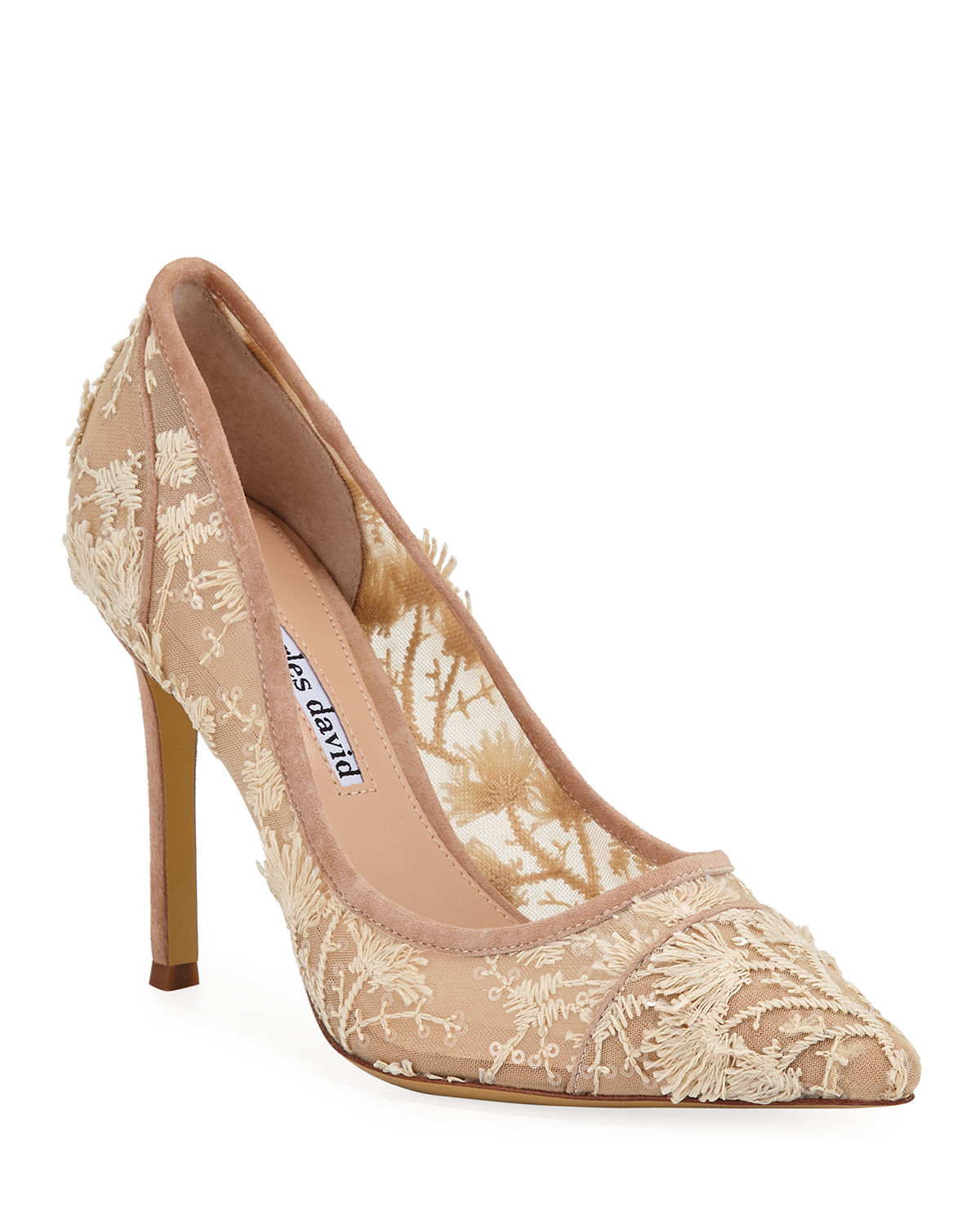 Charles David Pumps CHASER EMBROIDERED PUMPS