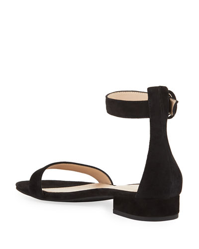 Newport Suede Low-Heel Sandals