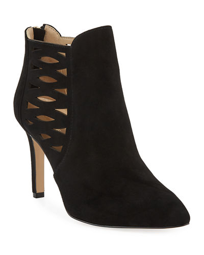 Nelie Cutout Suede Booties