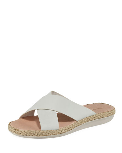 Ilidah Crossed-Strap Leather Sandals