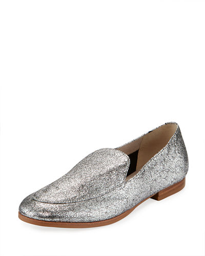 Westley Metallic Leather Loafers