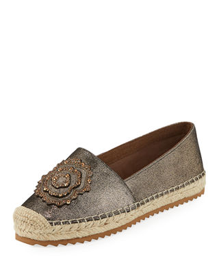 Abby Embellished Suede Espadrilles by Karl Lagerfeld Paris
