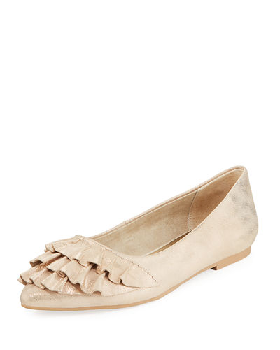 Downstage Ruffle Ballet Flats