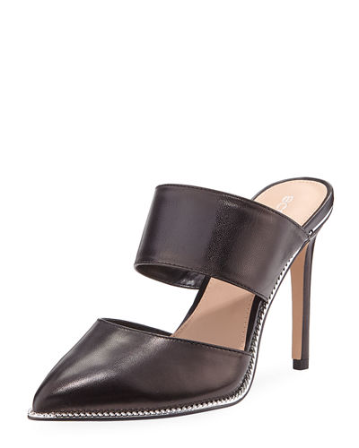 Hilary Leather Mule Pumps