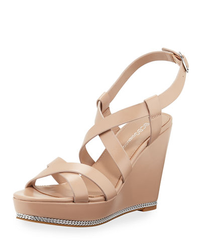Janice Strappy Wedge Sandals