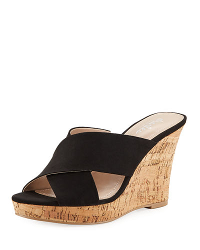 Latrice Crisscross Wedge Sandals