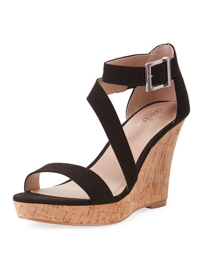 Leanna Ankle-Strap Wedge Sandals