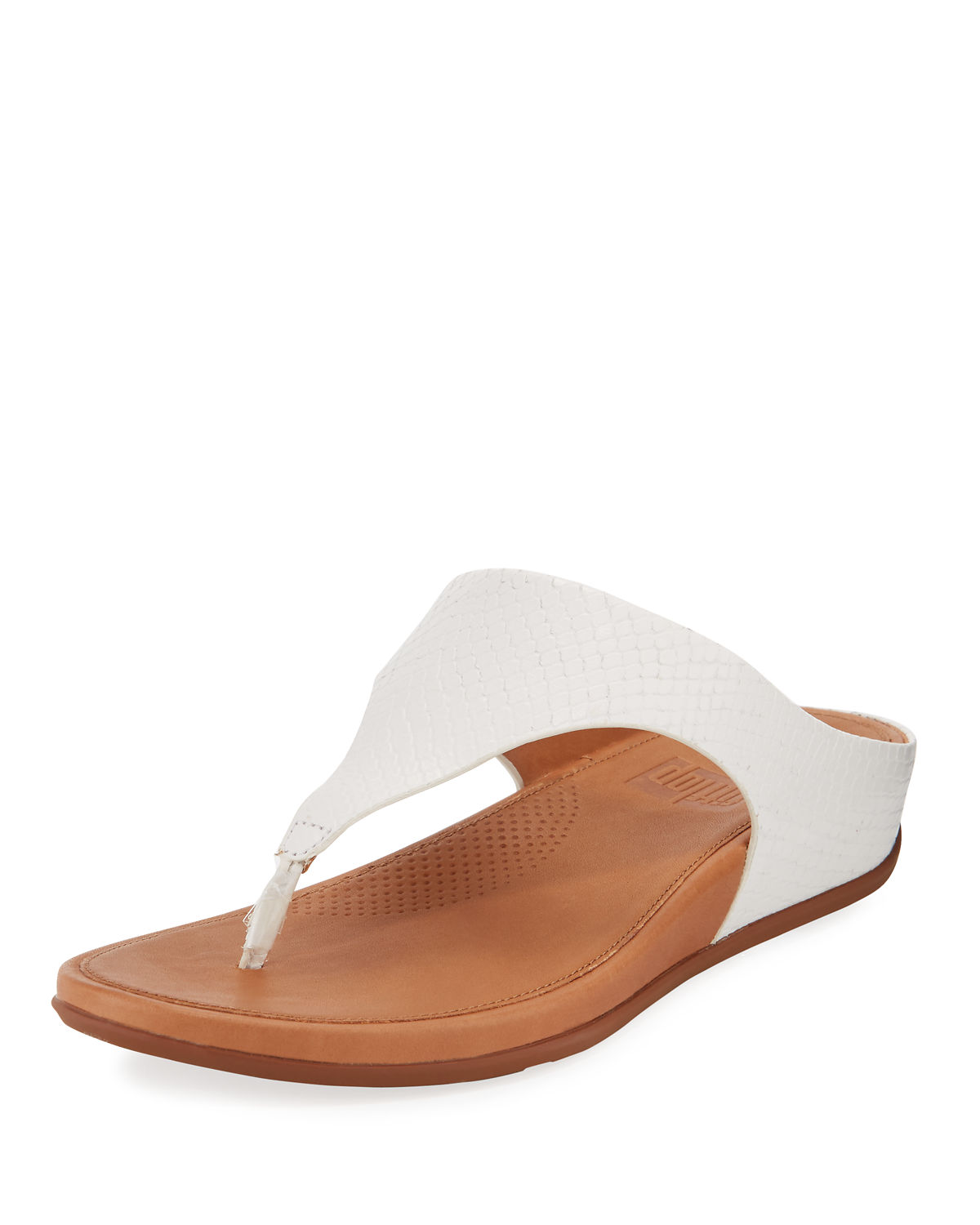 Fitflop Sandals BANDA SNAKE-EMBOSSED THONG SANDALS