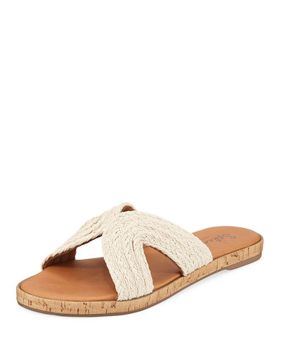 Suzette Braided-Jute Slide Sandals