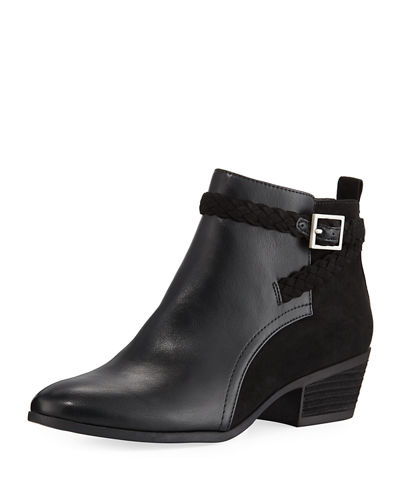 Pippa Faux-Leather Ankle Booties