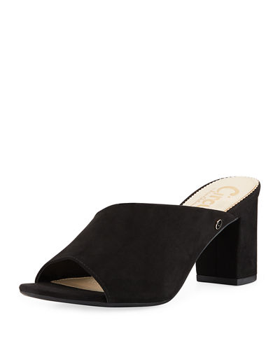 Suzanna Faux-Suede Slide Sandals