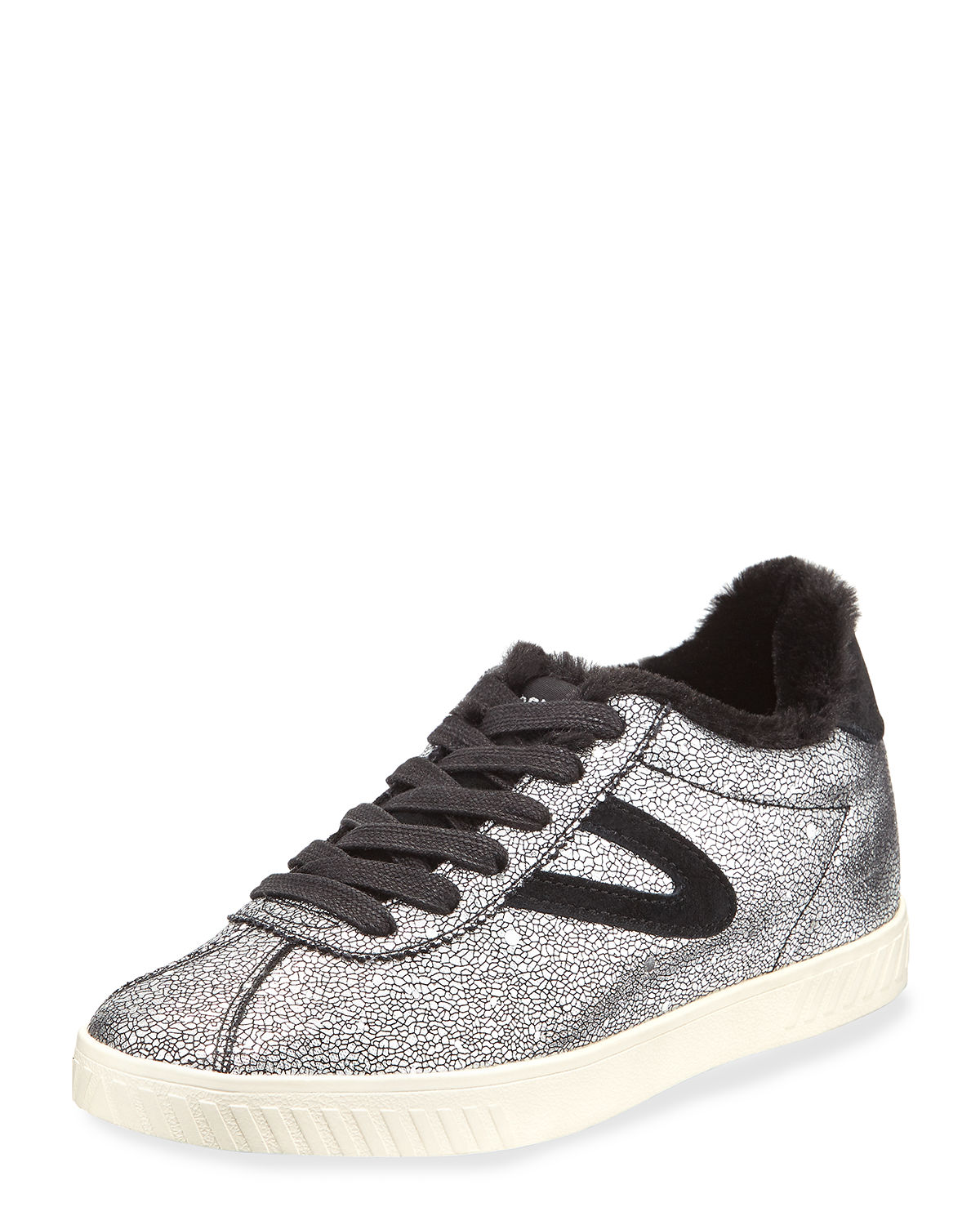 Tretorn CALLIE METALLIC LEATHER SNEAKERS