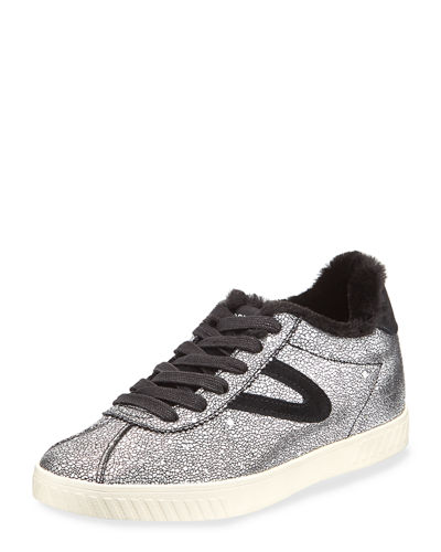 Callie Metallic Leather Sneakers