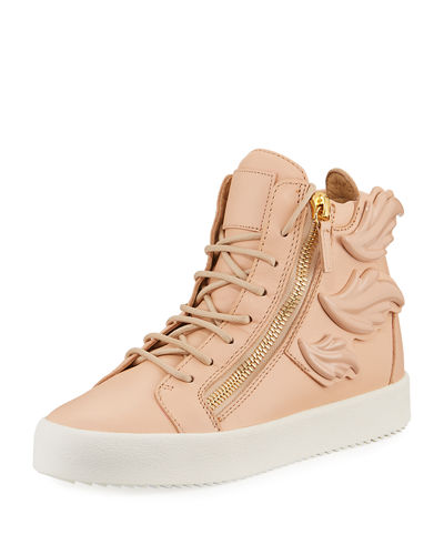 Giuseppe Zanotti Wings Leather High-Top Sneakers