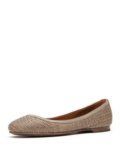 Carson Woven Leather Ballet Flats