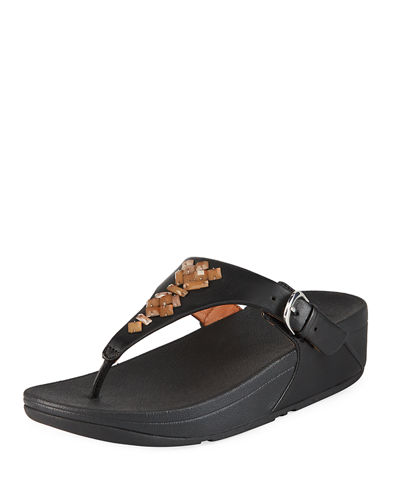 The Skinny Embellished Thong Sandals