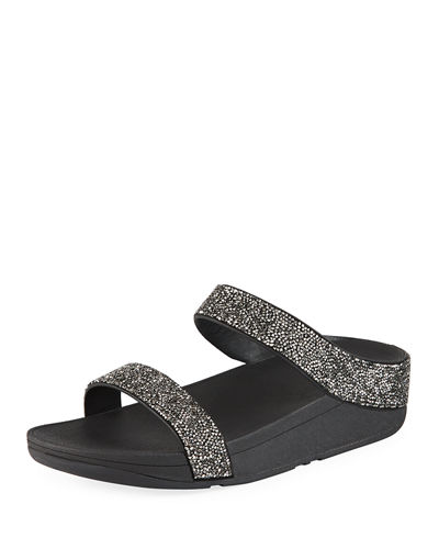 b36962f64657 Fino Quartz Embellished Slide Sandals