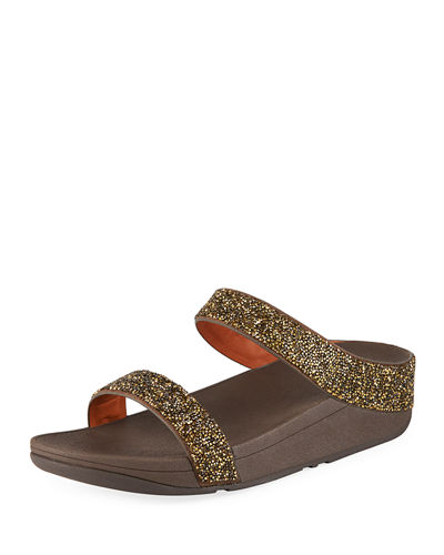 Fino Quartz Embellished Slide Sandals