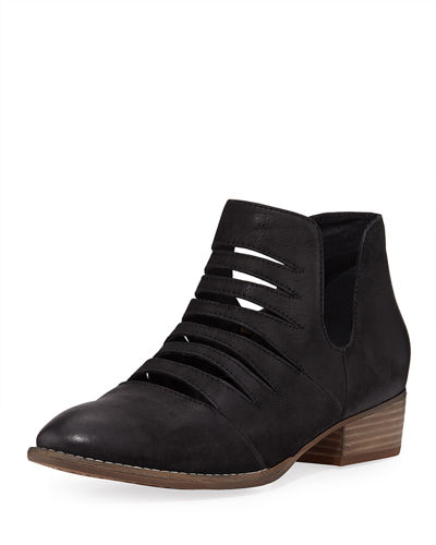 Unanimous Cutout Leather Ankle Booties