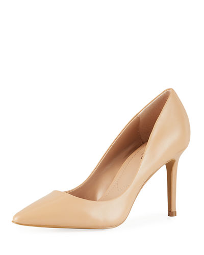 Vicky Pointed-Toe Leather Pumps